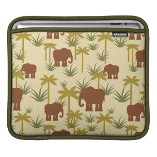 Elephants And Palms In Camouflage Sleeve For iPads