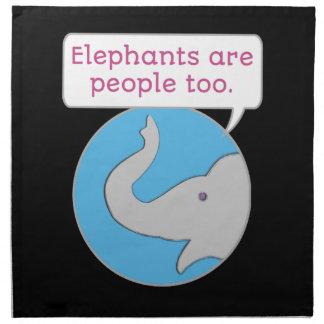 Elephants are People Too Napkin