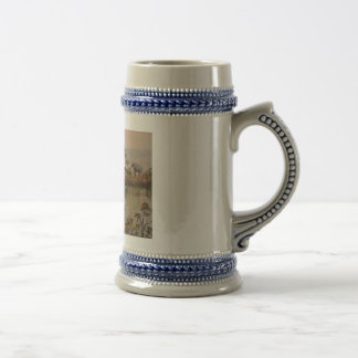 """""""Elephants At  The Water Hole"""" Beer Stein Mug"""