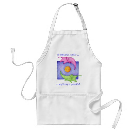 Elephants Can Fly! Apron