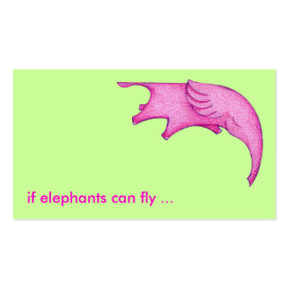 Elephants Can Fly! Profile Card Pack Of Standard Business Cards