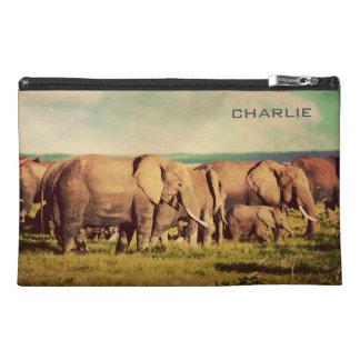 Elephants custom name accessory bags