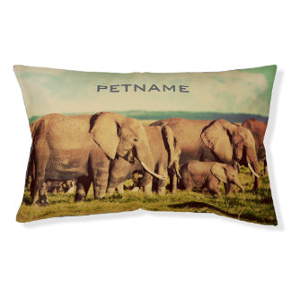 Elephants custom text dog beds