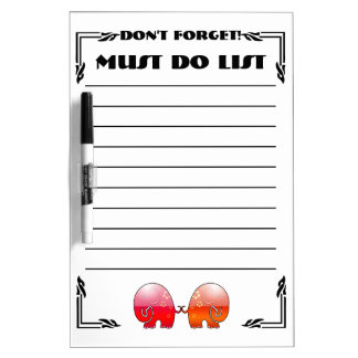 Elephants Don't Forget (Dry Erase Board) Dry Erase Board