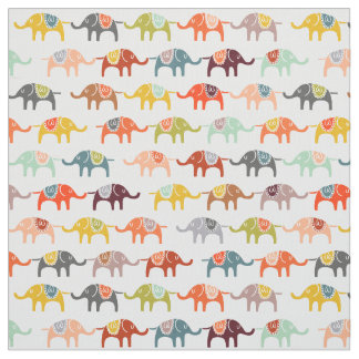 Elephants Fabric Half Size Baby Nursery Fabric