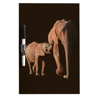 Elephants - Family Dry Erase Whiteboard