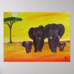 ELEPHANTS FAMILY Print