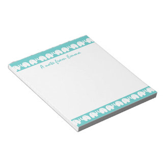 Elephants in a Row Notepad