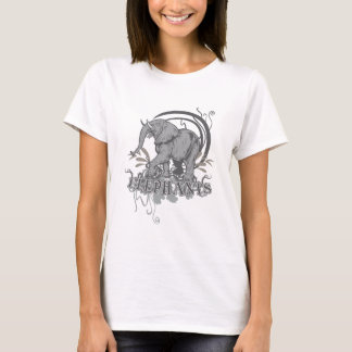 Elephants in Grey T-Shirt