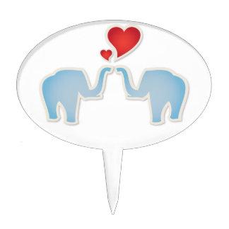 Elephants In Love Cake Topper