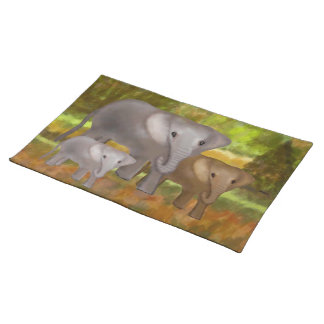 Elephants in the Rainforest American Mojo Placemat