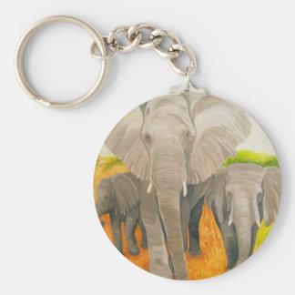 Elephants Key Chain