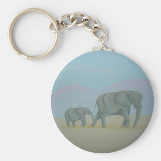 Elephants keychain