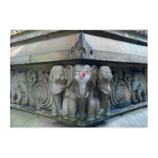 Elephants-Kolkata temple elephant photo Acrylic Print