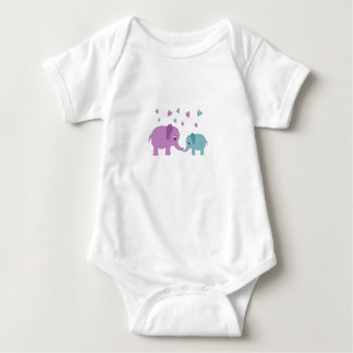 Elephants love baby bodysuit