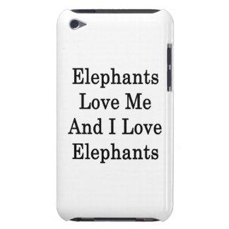 Elephants Love Me And I Love Elephants iPod Case-Mate Cases