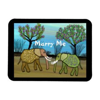 Elephants Marry Me Magnet