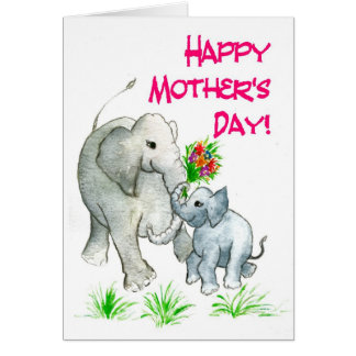 'Elephants' Mother's Day Card