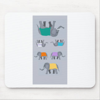 Elephants Mouse Pad