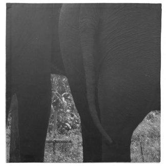 elephants napkin