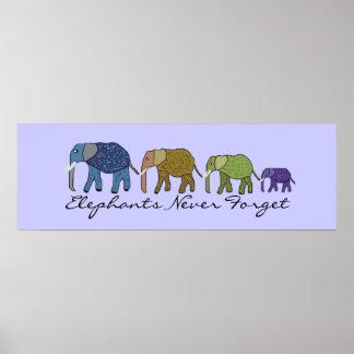 Elephants Never Forget Banner Poster
