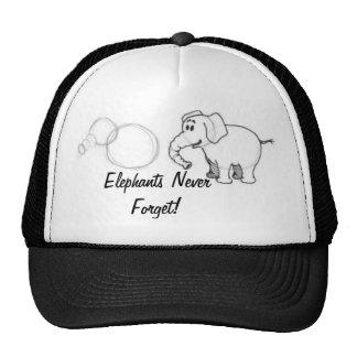 Elephants Never Forget! Cap