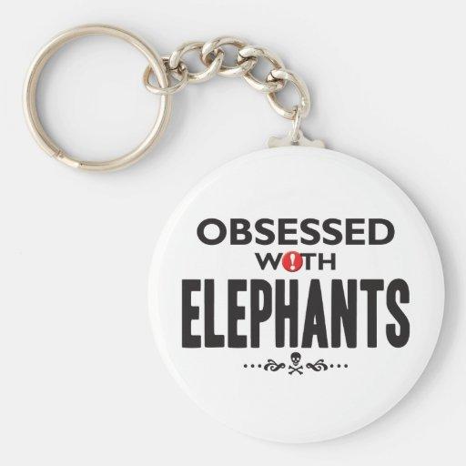 Elephants Obsessed Keychain