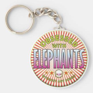 Elephants Obsessed R Key Chains