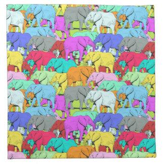 Elephants Parade - Colourful Napkin