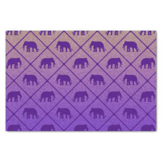 Elephants pattern on gradient noisy background tissue paper