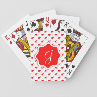 elephants RED RED RED.ai Playing Cards