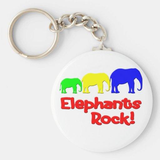 Elephants Rock! Keychains