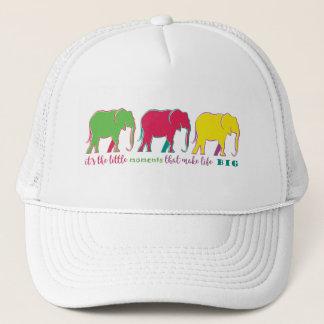 Elephants Silhouette Neon Inspiration Motivation Trucker Hat