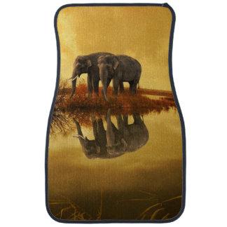 Elephants Sunset Car Mat