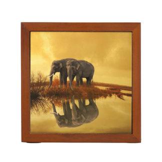 Elephants Sunset Desk Organiser
