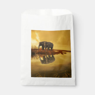 Elephants Sunset Favour Bag