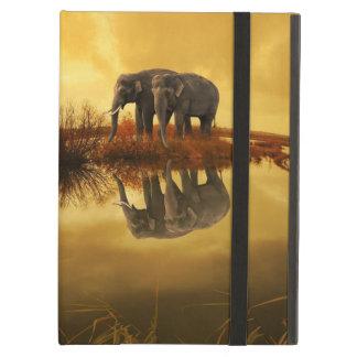 Elephants Sunset iPad Air Cover