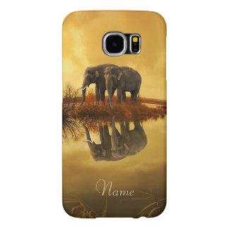Elephants Sunset Samsung Galaxy S6 Cases