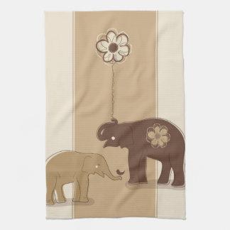 Elephants Tea Towel