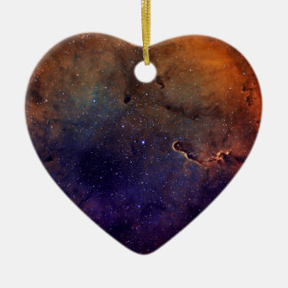 Elephant's Trunk Nebula Ceramic Heart Decoration