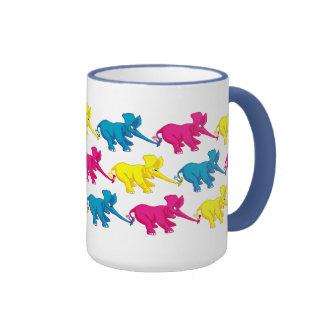 Elephants Tug of War Ringer Mug
