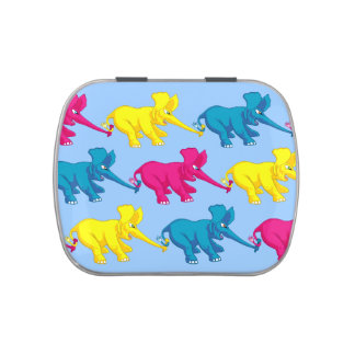 Elephants Tug of War Jelly Belly Candy Tins
