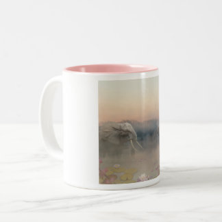 Elephants Two-Tone Coffee Mug