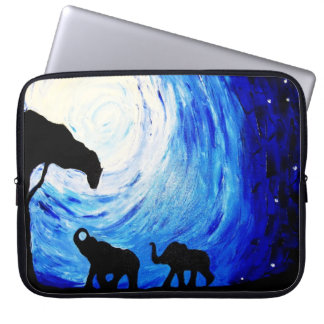 Elephants Under Moonlight (K.Turnbull Art) Laptop Sleeve