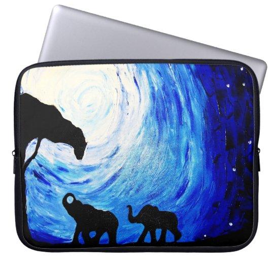 Elephants Under Moonlight (K.Turnbull Art) Laptop Sleeve