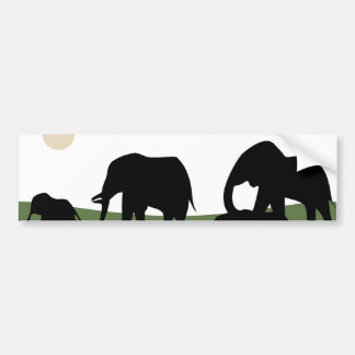 Elephants walking Bumper Sticker