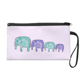 Elephants Wristlet Purse