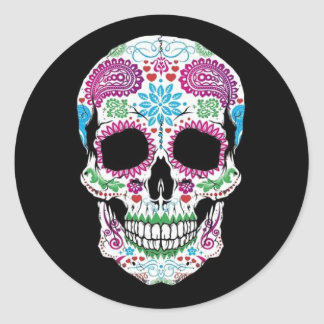 eletronic classic round sticker