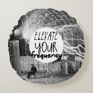 Elevate your Frequency Round Pillow