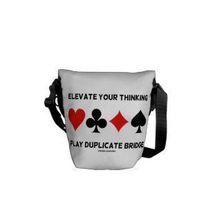 Elevate Your Thinking Play Duplicate Bridge Courier Bag